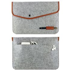 """New !Hot! Real Genuine Felt Sleeve Laptop Case Cover Bag for MacBook Air Pro Retina 11"""" 13"""" Free shipping"""