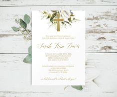 Baptism Invitation Printable, Christening Invite Girl, Baptism Invitation Girl, Baptism Invitation T Baptism Party, Girl Baptism, Christening Invitations Girl, Change Background, You Are Invited, Minimalist Wedding, Funeral, Place Card Holders, Templates