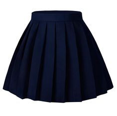 Dark Navy Blue Pleated Skirt - Women S An High Waisted Pleated Cosplay Umes Skirts Solid Mini Skirt Dark Blue High Waisted Plaid Skirt, Blue Plaid Skirt, Plaid Skirts, Waist Skirt, Flare Skirt, Skirt Mini, Pleated Skirt, Mini Skirts, Pleated School Skirt