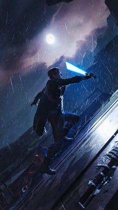 Star Wars Jedi, Star Wars Games, Grey Jedi Wallpaper, Star Wars Wallpaper, Star Wars Fallen Order, Cuadros Star Wars, Arte Cyberpunk, Star Wars Pictures, Star Wars Fan Art