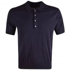 Paul Smith PS Navy Knitted Short Sleeve Polo Shirt. Available now at www.brother2brother.co.uk