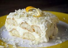 """""""Limoncello Tiramisu"""" Tiramisu is only sometimes a desert I consider """"good""""... but this... this could be yummy."""