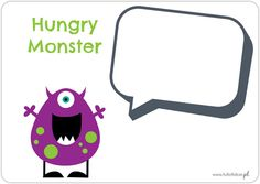 Hungry Monster - printable game (shapes)