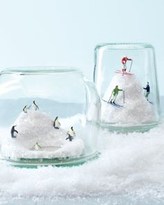 Slopes Diorama -Ski Slopes Diorama - 10313 Downhill Skiers HO Scale Figure Martha Stewart's Crafts for Kids: Kids' Winter Crafts - Martha Stewart Faith is Torment Yule, Easy Christmas Crafts, Simple Christmas, Christmas Gifts, Homemade Christmas, Christmas Tree, Idee Diy, Jar Gifts, Christmas Inspiration
