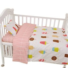 3pcs/set crib bed linen,(pillow case+bed sheet+duvet cover without filling)