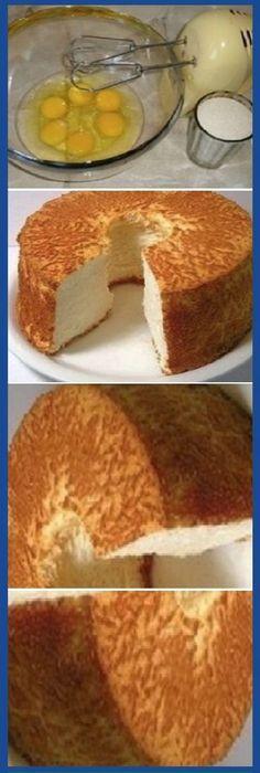 Verdadero bizcocho! Por fin he encontrado una receta exquisita… #bizcochoverdadero #bizcochocasero #panfrances #pain #bread #breadrecipes #パン #хлеб #brot #pane #crema #relleno #losmejores #cremas #rellenos #cakes #pan #panfrances #panettone #panes #pantone #pan #recetas #recipe #casero #torta #tartas #pastel #nestlecocina #bizcocho #bizcochuelo #tasty #cocina #chocolate Si te gusta dinos HOLA y dale a Me Gusta MIREN... Gourmet Recipes, Sweet Recipes, Cake Recipes, Dessert Recipes, Pan Dulce, Sweets Cake, Cupcake Cakes, Brownie Desserts, Angel Food Cake