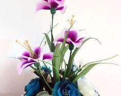 Arreglos florales de Nylon hecho a mano