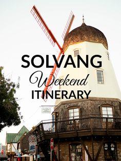 Solvang Weekend Itin