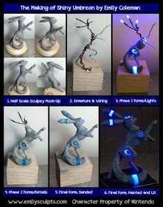 The Making of Shiny Umbreon by emilySculpts.deviantart.com on @deviantART