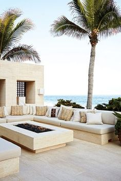 Outdoor Living Room : Cindy Crawford and Rande Gerber and George Clooney's Side-By-Side Mexican Villas : Architectural Digest Outdoor Seating, Outdoor Rooms, Outdoor Living, Outdoor Decor, Outdoor Lounge, Garden Seating, Outdoor Furniture, Outdoor Patios, Lounge Furniture