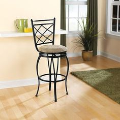 "$29/stool, Walmart, Mainstays 29"" Swivel Metal Barstool, Black"