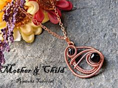 Mother and Child Wire Wrapped Pendant by NicoleHannaJewelry, $6.00