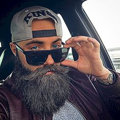 Cool and gentle full beard styles 56