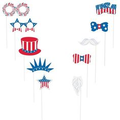 Check Out Patriotic Photo Booth Props Kit