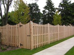 Maple Wood Fence Design For Backyard Come With Concave