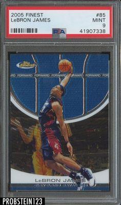 9164b00916c 2005 Finest  85 LeBron James Cleveland Cavaliers PSA 9 MINT