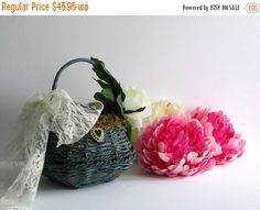 Be my Guest Sale Basket Wedding Flower girl by Timelesspeony
