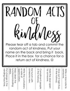 Love Random Act of Kindness cards. Instant download. Pdf