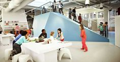 Danish architecture firm Rosan Bosch Ltd has created a school with no walls for the Swedish Free School Organization Vittra, which wanted. Learning Spaces, Learning Environments, 21st Century Schools, Early Childhood Centre, Learning Theory, International School, Classroom Design, Classroom Walls