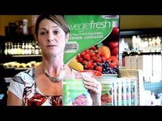 Customer, Gennie Patterson, busy business owner, explains how VegieFresh helps her fruits and vegetables to stay fresh the entire week since she can only do grocery shopping on the weekends.