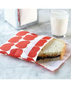 Go green with reusable sandwich bags! Get them here: www.bhg.com/shop/stonewall-kitchen-reusable-lunch-bags-p508032d082a7862e65d86ec8.html