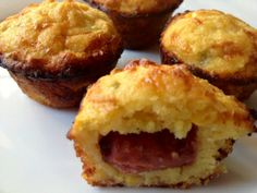 Corn Dog Bites, Made with Lit'l Smokies, Cornbread Mix in a Mini Cupcake Pan, Takes 20 Minutes to Prepare & Bake... Cost $6.50 for EVERYTHING... Super Bowl favorite! From MrsTrainingBlog