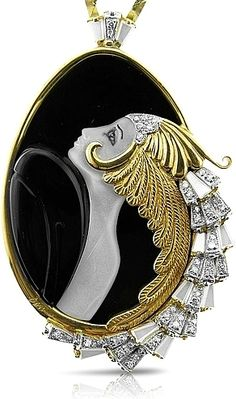 Erte Jewelry Beauty of the Beast Art Deco