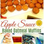 Baked Oatmeal Applesauce Muffins - Large Family Recipes | Freezer Friendly! - Large Family Table