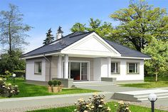 Projekt domu Lucia IV DCB88c 98,82 m2 - koszt budowy 215 tys. zł - EXTRADOM Indian House Plans, Bungalow House Design, Indian Homes, Better Homes, Gazebo, Shed, Outdoor Structures, Architecture, Outdoor Decor