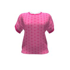See Kate Sew Dreamer #Top made with the #Gingezel Intense Pink PIxel Geometric design on Sprout Patterns. The sophisticated pixel mosaic geometric in this top is inspired by the colors of deep pink hyacinths. From the Gingezel Inspired by Spring Collection. #pinktop #sproutpatterns #fashion #fashioninspiration #diyfashion #cutandsew