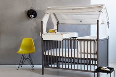 """Stokke has always wowed us with their design — their oval-shaped crib is iconic — but these new pieces are just as impressive with their function too."" via COOL MOM PICKS"