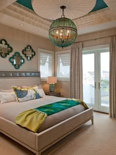 Best Turquoise Bedroom Design Ideas & Remodel Pictures | Houzz