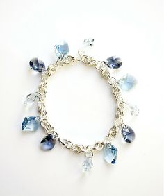 Three Shades of Blue: Swarovski Crystal and Chainmaille Bracelet