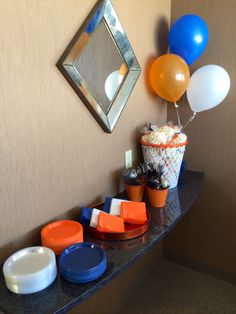 2014 Basketball Party | Orange and navy party!