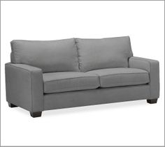 PB Comfort Square Upholstered Box-Edge Cushion Sofa | Pottery Barn