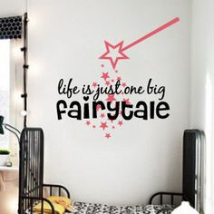 Life Is Just One Big Fairytale... <3 Wall Decor By SerpentineGraphics, $25.00