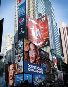 Beyonce's New Times Square NYC Billboard