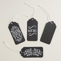 Our chalkboard-inspired gift tags add unforgettable style to presents for any occasion with stunning hand lettering. Mix and match these unique tags with our selection of gift bags, clips, ribbons and raffia to create the perfect presentation.