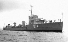 HMS Wanderer(D74), W-Class Destroyer(shown before her'43 conversion). Ordered in January '18 from Fairfield Shipbuild. & Eng. Co. & commissioned on 18/09/19. Serving throughout WW II she was jointly credited with five U-Boat kills. In '43 she was one of the 21 V & W class destroyers converted to Long Range Escorts, carried out at Devonport her No.1 boiler & stack were removed and being replaced by extra fuel tanks. Her A & Y guns & tubes were replaced with a Hedgehog and additional DC racks.