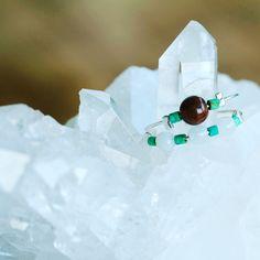 Bague jade et perles de turquoises By Paula Blache Bijoux
