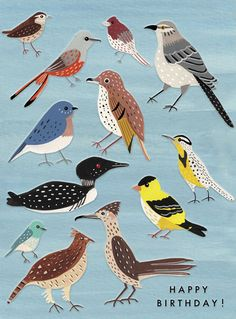 I am so pleased to have another mega talented designer joining the P&P 'Designers for Hire' Directory this week. Carolyn Suzuki is based. Birthday Card Online, Bird Artists, Quirky Art, Ceramic Owl, Bird Illustration, Fun Prints, Bird Feathers, All Art, Illustrators