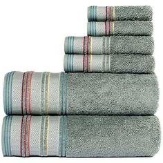 Yves Cotton Yarn Dyed Jacquard 6-Piece Towel Set - Walmart.com