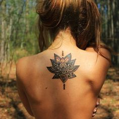 If I got a lotus tattoo, I would want it to be similar to this in design