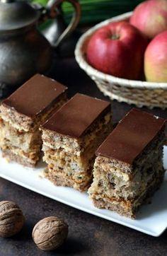 Polish Desserts, Polish Recipes, Cookie Desserts, Polish Cake Recipe, Cake Recipes, Dessert Recipes, Walnut Cake, Sweets Cake, Homemade Cakes