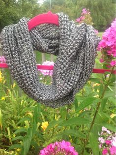 Undeniable Glitter: Liquid Silver Scarf- Free Knitting Pattern, made with one skein Paton's Metallic