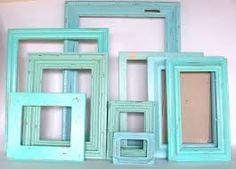 Sea green picture frames