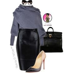 Untitled #2833 by stylebydnicole on Polyvore featuring Christian Louboutin, Hermès and Prada