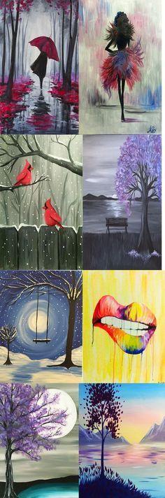 12 Canvas Painting Ideas You Can Easily DIY - DIY Ideas