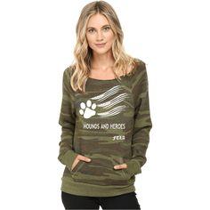 56c920b027711 FTLA Apparel Camo Eco Fleece Hounds and Heroes Off The Shoulder Sweatshirt