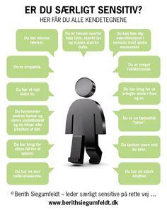 Info-grafik for særligt sensitive. - Berith Siegumfeldt Visit the post for more. Cooperative Learning, Mindfulness Meditation, Way Of Life, Humor, How I Feel, Self Development, Introvert, Kids And Parenting, Asperger